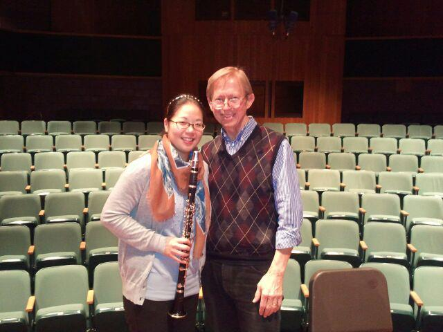 With composer David Maslanka