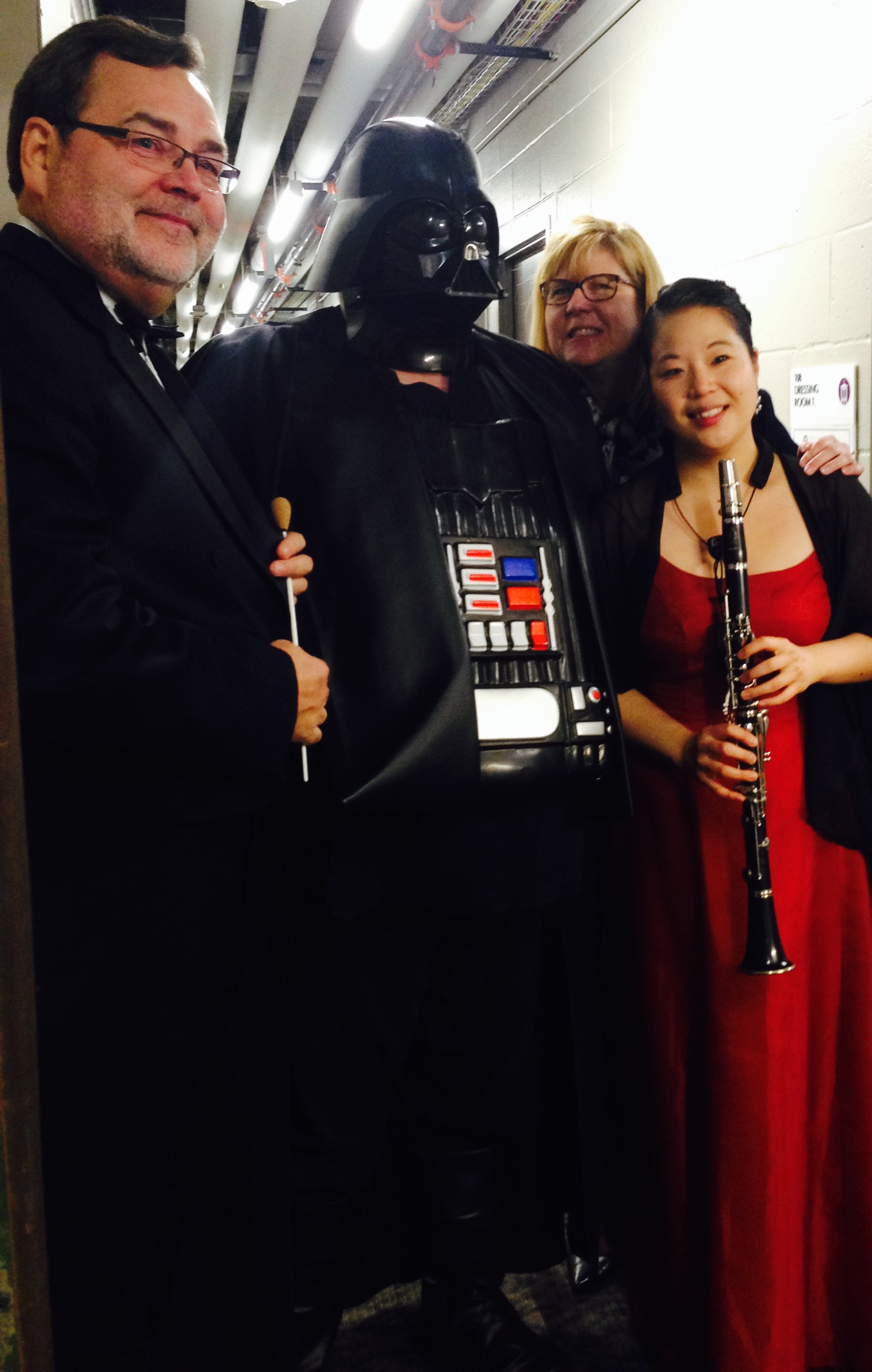 After performing Debussy Premier Rhapsody with Maestro Joiner, President Davis and Darth Vadar at Furman University