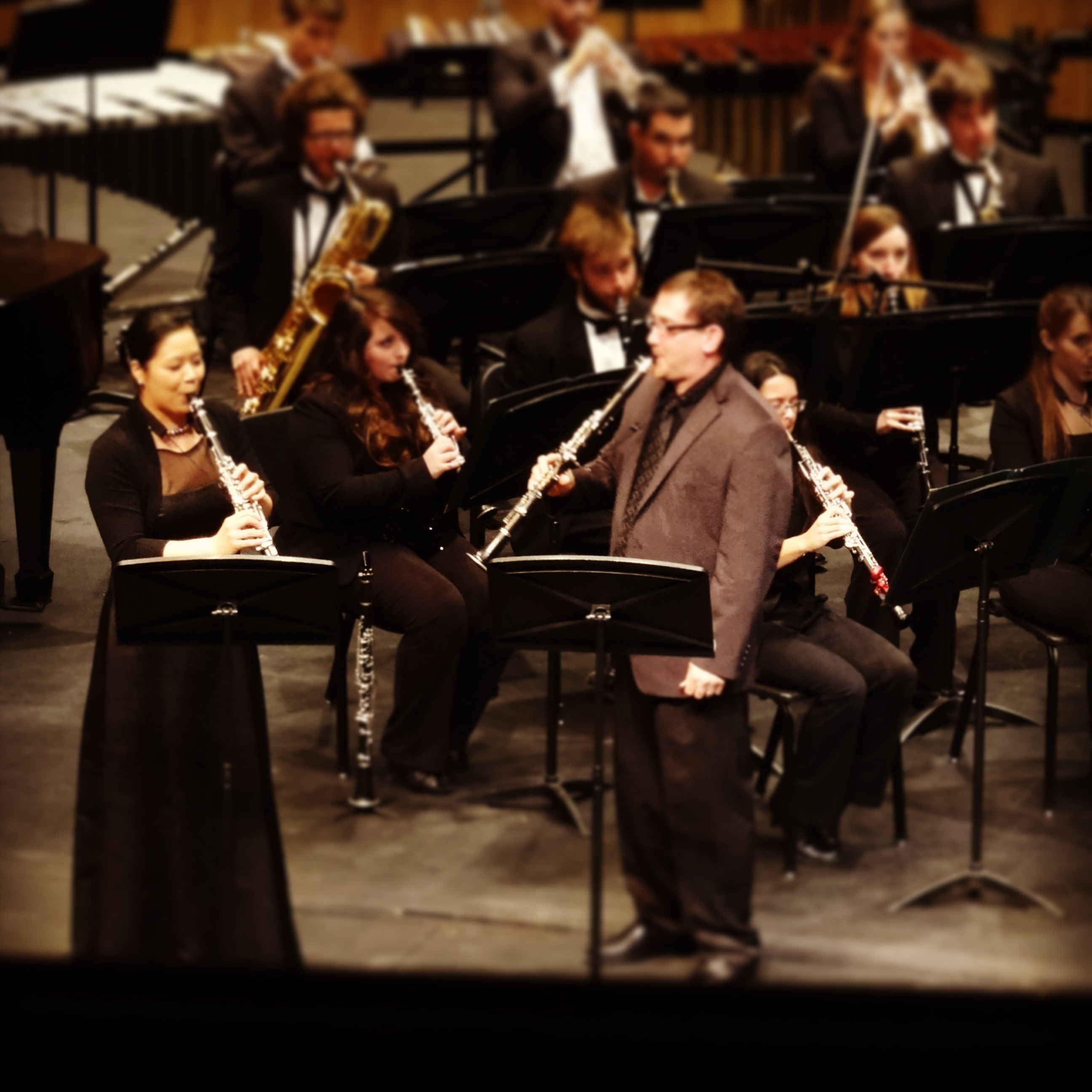 Performing with Clarinetist Daniel Gilbert and NDSU Wind Symphony