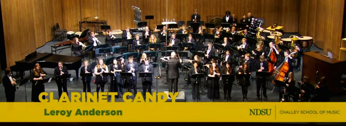 Performing Clarinet Candy with NDSU Clarinet Achievement Program Clarinet Students and NDSU Wind Symphony
