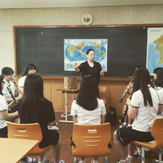 Clarinet Clinic at a High School in Jeonju, South Korea