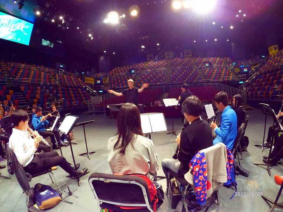 Rehearsal with Hong Kong Youth Symphonic Band