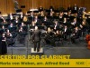 Performing Weber Concertino with NDSU Wind Symphony