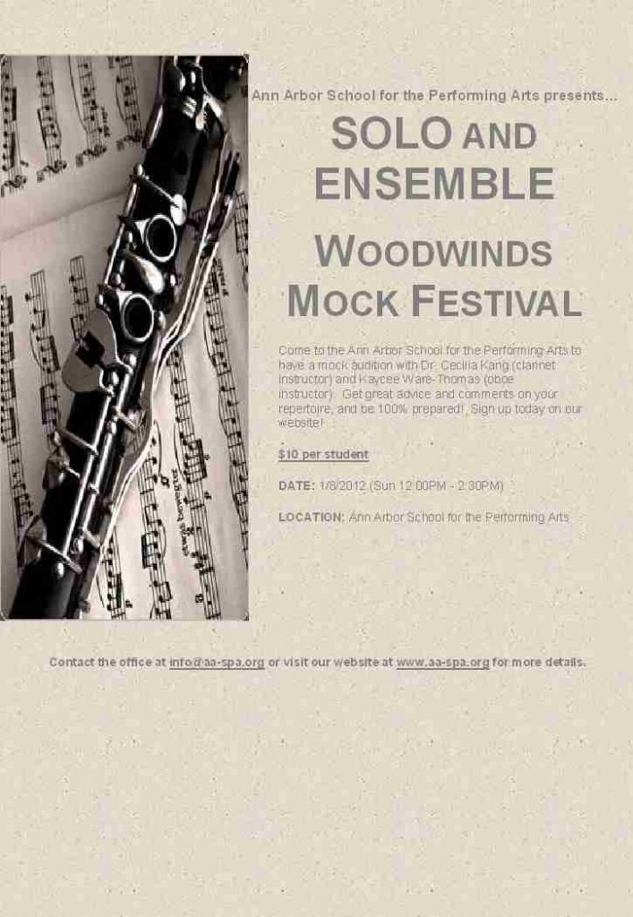 Woodwinds Solo and Ensemble Mock Festival